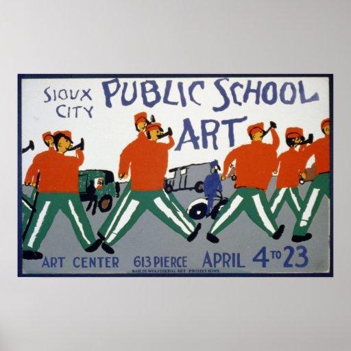 Sioux City Public School Art Exhibit 1936 WPA Posters