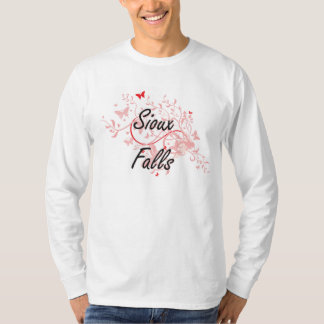 Sioux Falls South Dakota City Artistic design with T-Shirt
