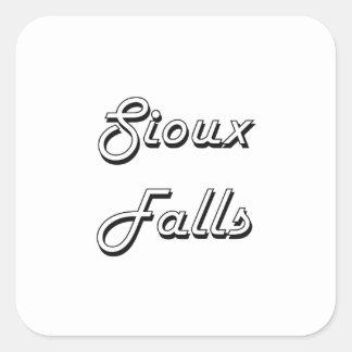Sioux Falls South Dakota Classic Retro Design Square Sticker