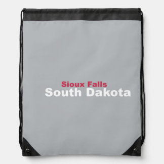 Sioux Falls, South Dakota Drawstring Backpack