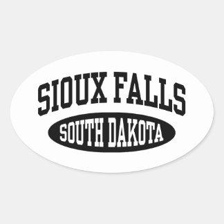Sioux Falls South Dakota Oval Sticker
