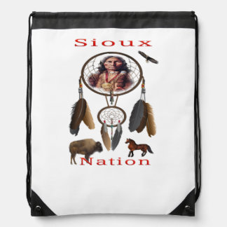 Sioux Nation mercnandise Drawstring Bag