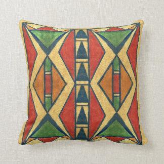 Sioux style 1860's parfleche design throw pillow