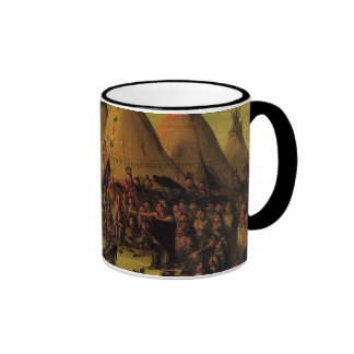 Sioux War Council (Tipis) by George Catlin Mugs