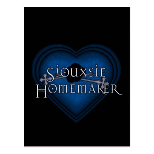 Siouxsie Homemaker Knitting (Blue) Postcards