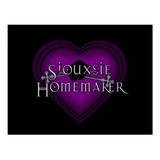 Siouxsie Homemaker Knitting (Violet) Post Cards