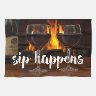Sip Happens Kitchen towel