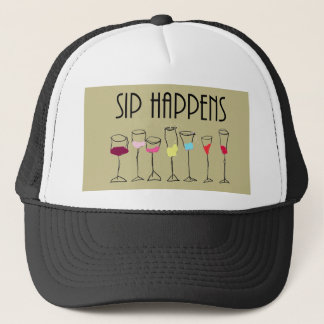SIP HAPPENS TRUCKER HAT