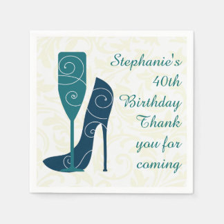 Sip in Style Wine Champagne Paper Napkins