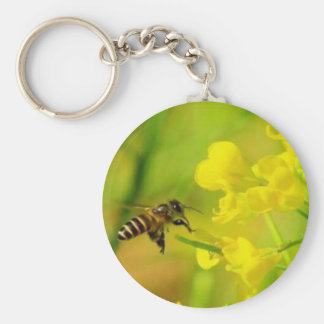 Sipping Bee Keychain