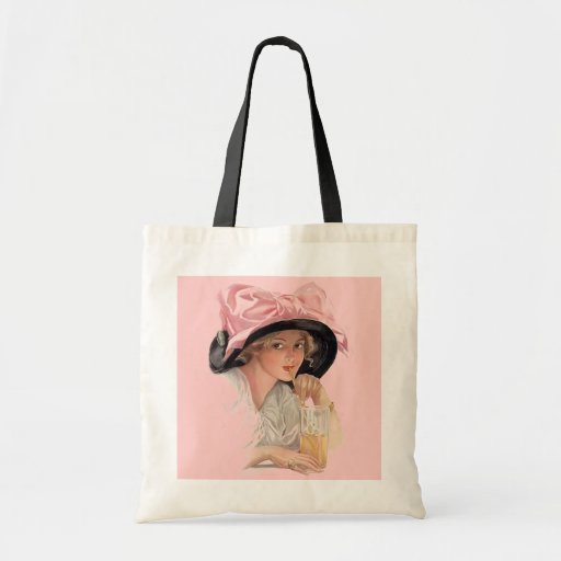 Sipping Soda Budget Tote Bag