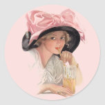 Sipping Soda Classic Round Sticker