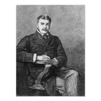 Sir Arthur Sullivan, engraved by C. Carter Poster