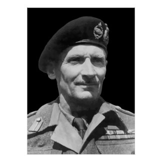 Sir Bernard Law Montgomery Poster
