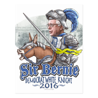 Sir Bernie Democrat White Knight Postcard
