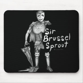 Sir Brussel Sprout Mouse Pad