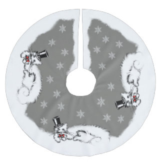 Sir Cat Brushed Polyester Tree Skirt