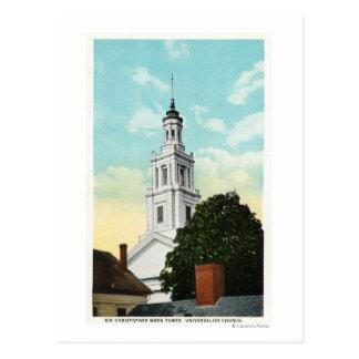 Sir Christopher Wren Tower View Postcard