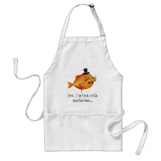 Sir Fishy Mustached Fish Standard Apron