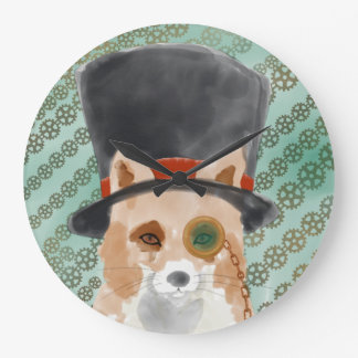 Sir Fox Large Clock