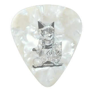 """Sir Gawain """"Troupe Camelot"""" (gauein """"theatrical Pearl Celluloid Guitar Pick"""