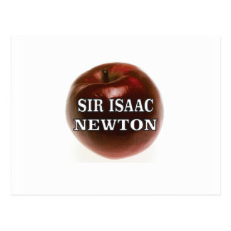 sir isaac newton apple postcard