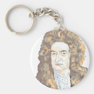 Sir Isaac Newton Key Ring
