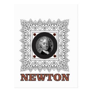 sir isaac newton postcard