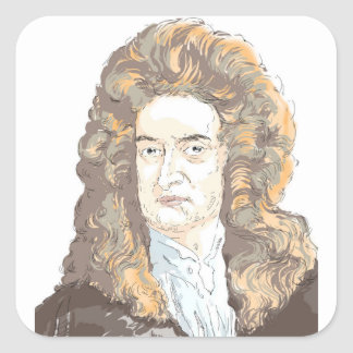 Sir Isaac Newton Square Sticker