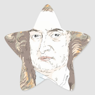Sir Isaac Newton Star Sticker
