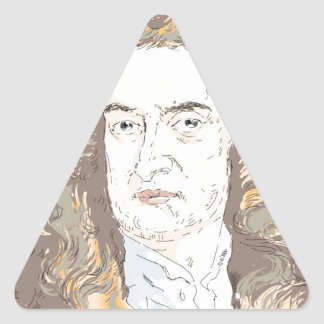 Sir Isaac Newton Triangle Sticker