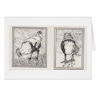 Sir Lancelot The Regal Rooster Greeting Card