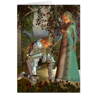 Sir Launcelot and Queen Guinevere Card