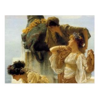Sir Lawrence Alma-Tadema A Coign Of Vantage Postcard
