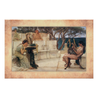 Sir Lawrence Alma-Tadema - Sappho and Alcaeus Poster
