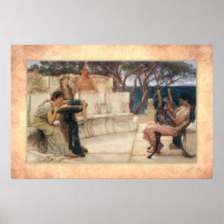 Sir Lawrence Alma-Tadema - Sappho and Alcaeus Poster