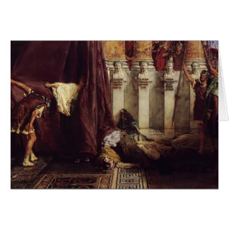 Sir Lawrence Tadema: Ave Caesar! Io Saturnalia! Card