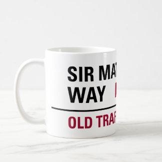 Sir Matt Busby Way English Street Sign Coffee Mug