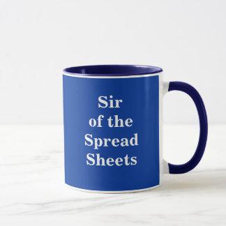 Sir of the Spreadsheets - Nickname mug