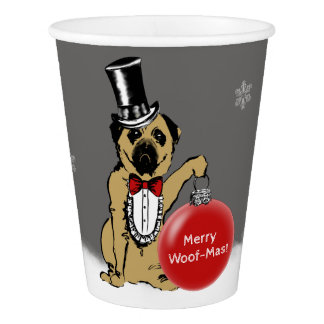 Sir Pug Dog Paper Cup