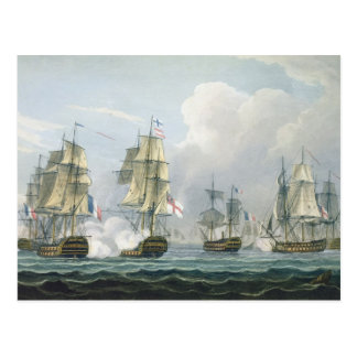 Sir Richard Strachan's Action after the Battle of Postcard