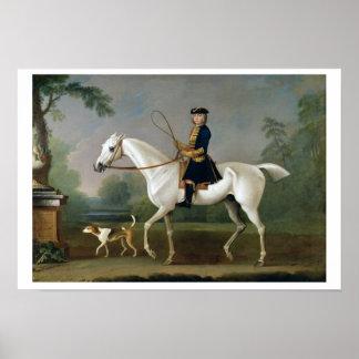Sir Roger Burgoyne Riding 'Badger', 1740 (oil on c Poster