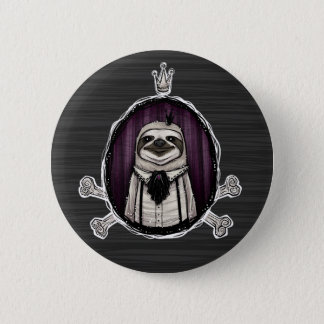 _sir slothington 6 cm round badge