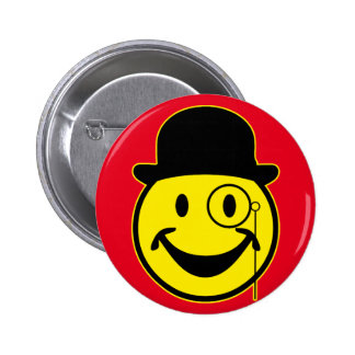 Sir Smiley yellow + your backg. & ideas 6 Cm Round Badge