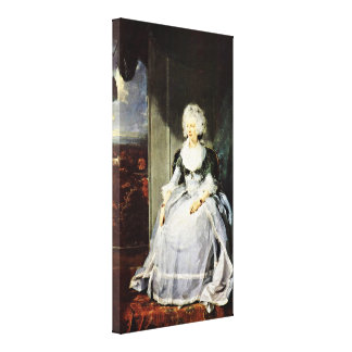 Sir Thomas Lawrence - Queen Charlotte(portrait) Gallery Wrap Canvas