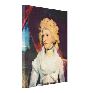 Sir Thomas Lawrence RA FRS - Miss Martha Carr Stretched Canvas Print