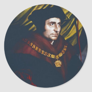 Sir Thomas More Classic Round Sticker