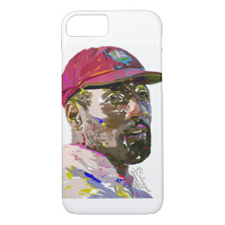 Sir Vivian Richard painting on iPhone case