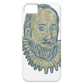 Sir Walter Raleigh Bust Drawing Case For The iPhone 5