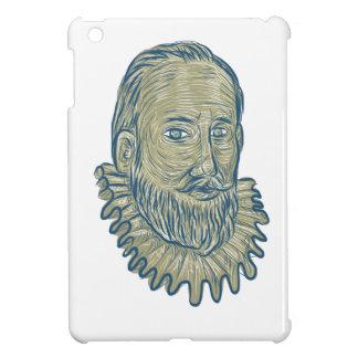 Sir Walter Raleigh Bust Drawing iPad Mini Case